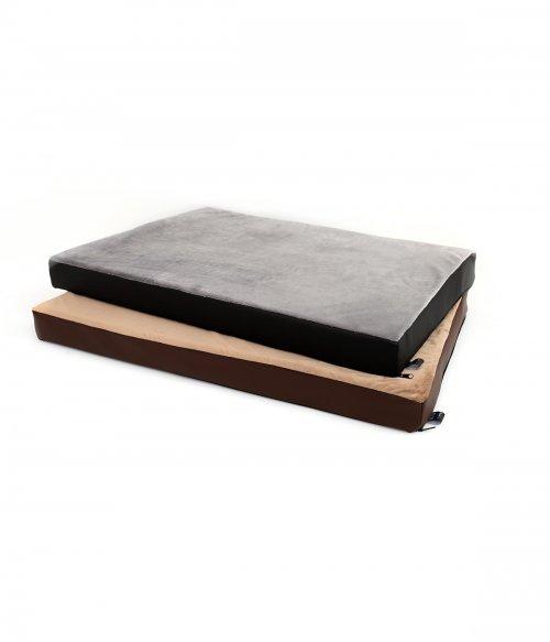 Kvalitná matrac pre psa Bety, materiál velvet/eko koža, vnútro PUR pena | davidog.sk