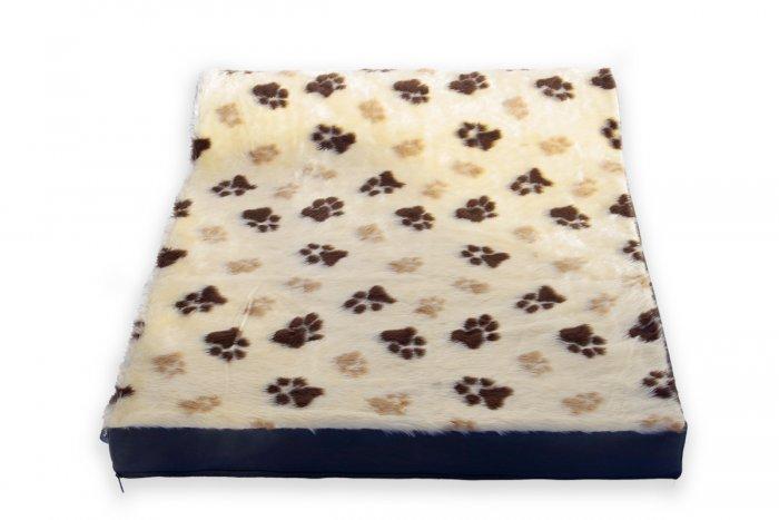Kvalitný matrac pre psa Deny, vzor béžový s lapkami | Davidog.sk