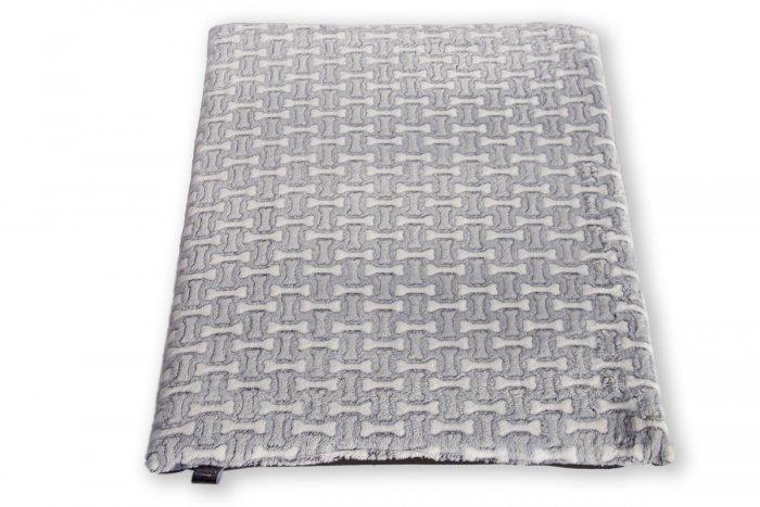 Pohodlný matrac pre psa Love, vzor sivý s kosťami | Davidog.sk